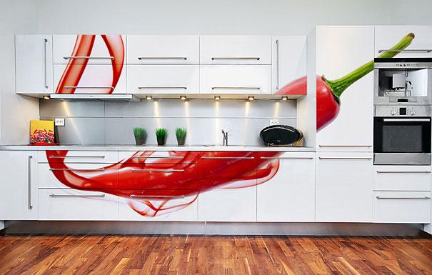 μοντέρνα διακόσμηση κουζίνας με αυτοκόλλητα