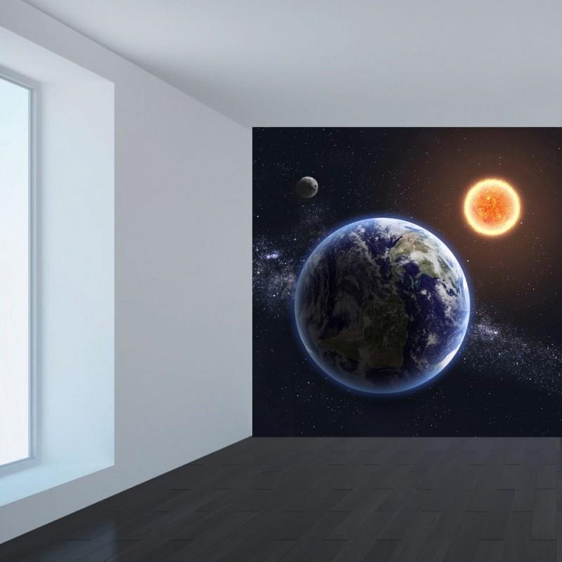 Ταπετσαρία τοίχου Ήλιος και γη