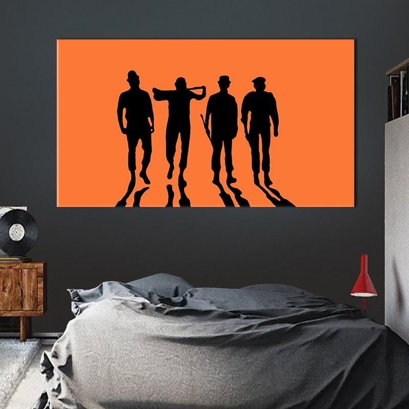Πίνακας σε καμβά Το κουρδιστό πορτοκάλι